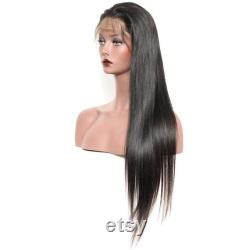 1B 613 Brésilien Silky Straight Body Wave Full Lace Wig 150