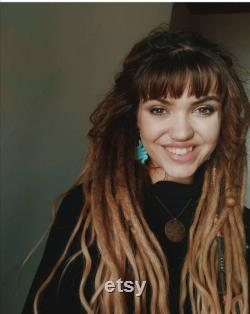 50 Cheveux humains Ombre Dreadlocks avec Loose Curly Ends