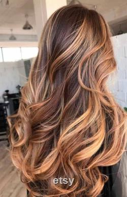 Balayage caramel Blended Clip In Remy Human Hair Extensions