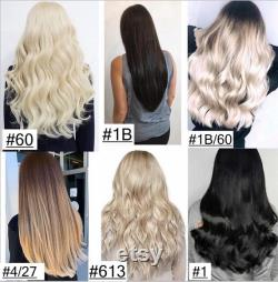 Deep Curly Double Drawn Human Hair Clip In Hair Extensions, Remy Hair, Custom Color, 250 Grammes, Silky, 18 , 20 , 22 , 24 , 26 , 28 30 .