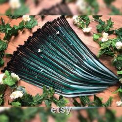 Forest Green Full Head of Dreadlock Extensions