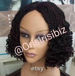 Full Micro Million tresses twist Lace Short Curly Wig African Hand tressed Handmade Disponible pour l affranchissement immédiat