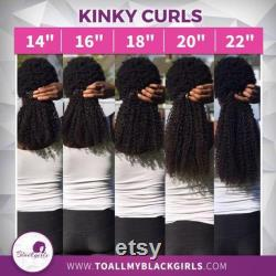 Kinky Curls Clip-Ins- 100 Virgin Human Kinky Straight, Curly Afro Natural Hair Extensions for African, Caribbean and Mixed race hair types