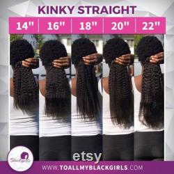 Kinky Straight Clip-Ins 100 Virgin Human Kinky Straight, Curly Afro Natural Hair Extensions for African, Caribbean and Mixed race hair Kinky Straight