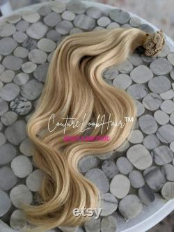 NBR Natural Beaded Row Hair Extensions Kit Cuticle Human Handtied Hair, Tools, Thread, Beads, and Needle