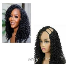 U-PART Clip In KINKY CURLY Wig, Wigs, African American Wig, Kinky Curly Virgin Hair, Afro Wig, 10-22 pouces