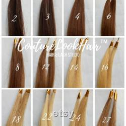 Volume Wavy Tape-In Extensions Cuticule Cheveux humains Double Dessiné 100pc 300grams