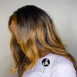 WAVY 6 x6 HD Lace Raw Remy Indian Human Hair Closure